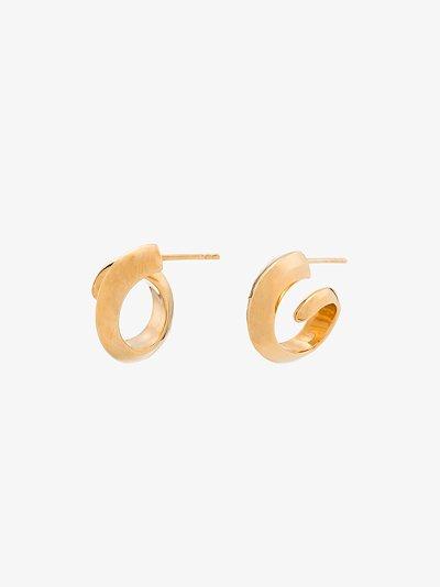 gold tone coil earrings