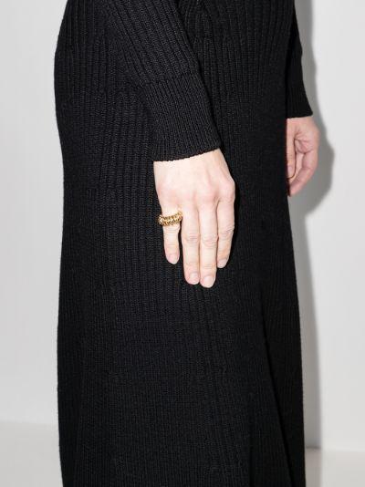 Gold Tone Spiral Ring