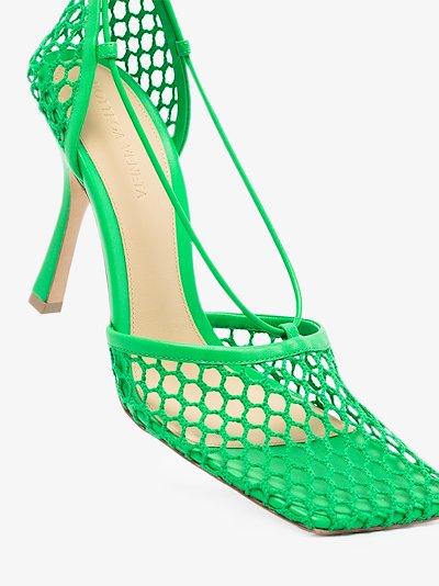 green Stretch 90 mesh pumps