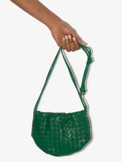 Green The Mini Bulb leather shoulder bag