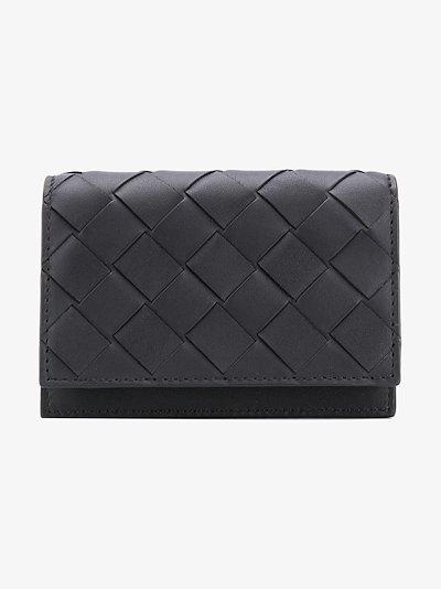 Intrecciato folding wallet