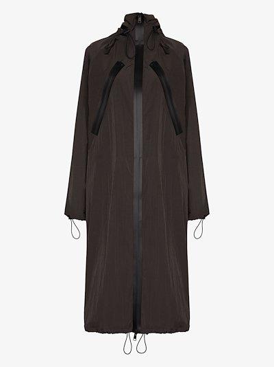 long hooded parka coat