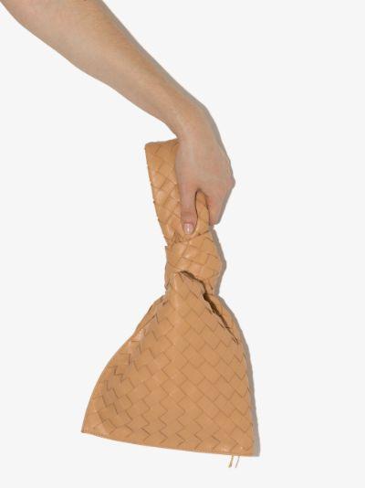 Neutral Mini Twist leather clutch bag