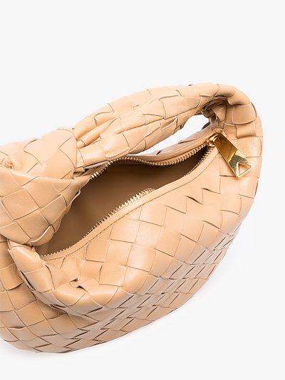 neutral The Mini Jodie leather clutch bag