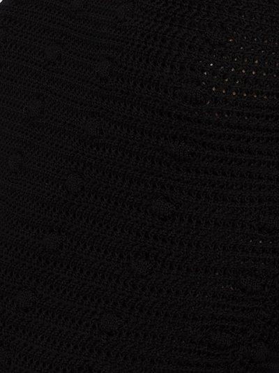 pom-pom knit cotton sweater