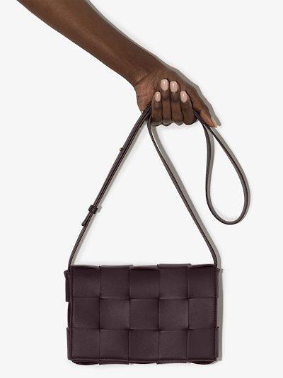 purple Cassette leather shoulder bag