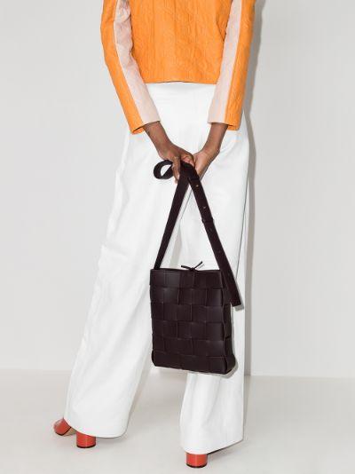 purple Cassette Messenger leather cross body bag