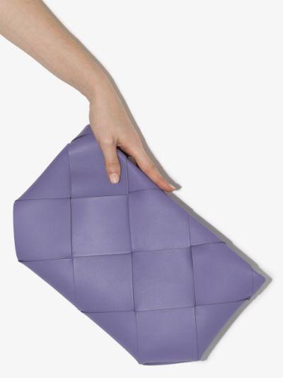 purple Intrecciato leather clutch bag