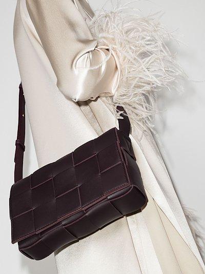 purple The Cassette leather shoulder bag