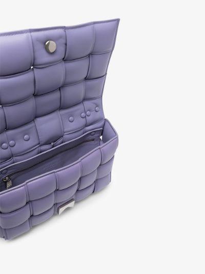 purple The Chain Cassette leather shoulder bag