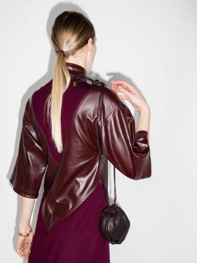 purple The Mini Bulb leather shoulder bag