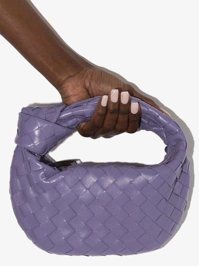 purple The Mini Jodie leather clutch bag