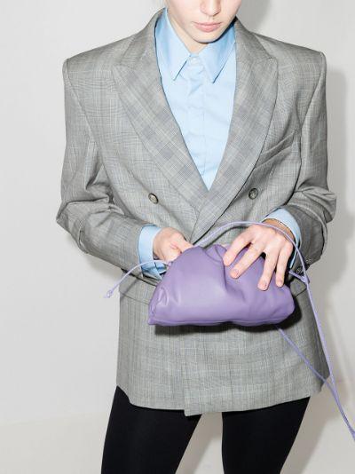 Purple The mini pouch leather clutch bag