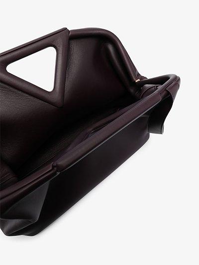 purple The Triangle leather clutch bag