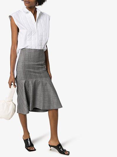 quilted cotton poplin sleeveless shirt
