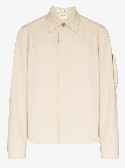 resinated cotton shirt jacket