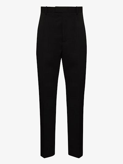 slim leg wool trousers