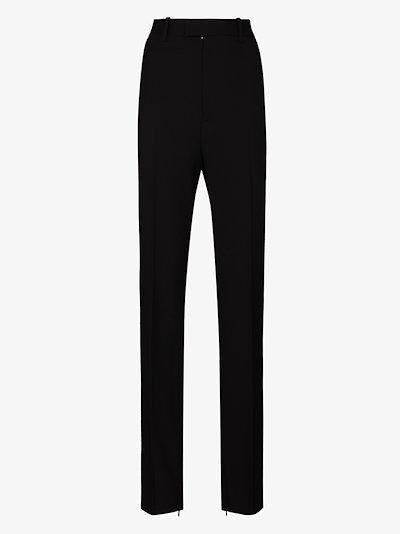straight split hem trousers