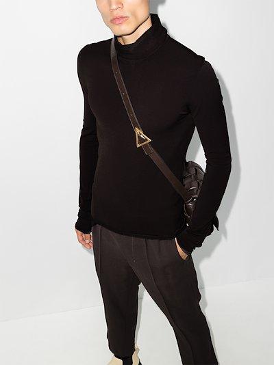 techno knit roll neck sweater