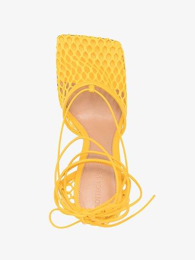 yellow Stretch 90 mesh pumps