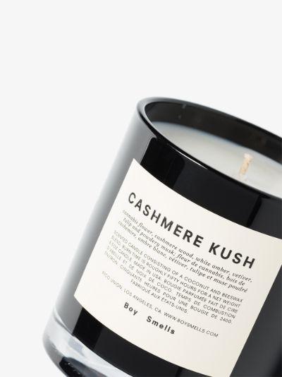 black and white Cashmere Kush candle