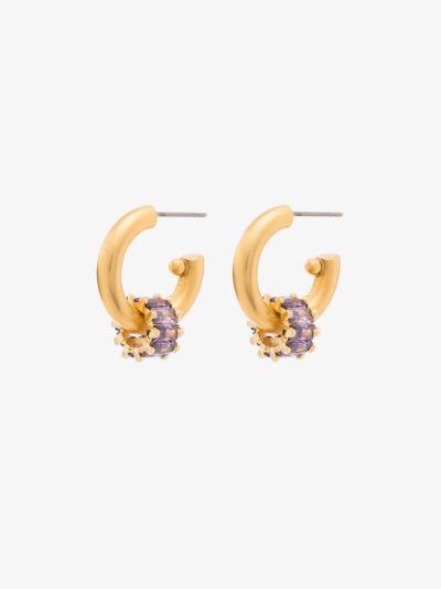 Gold-Plated Pinkie Swear Hoop Earrings