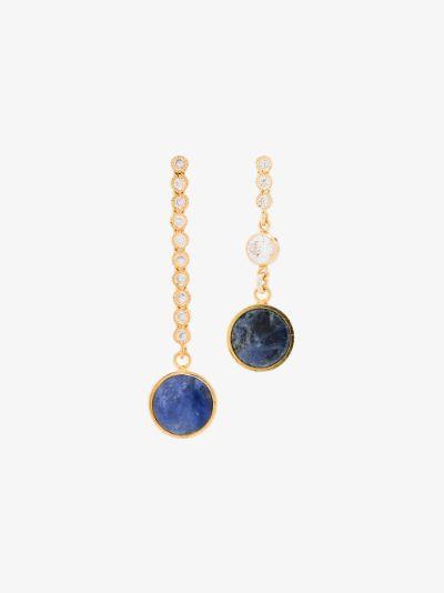 gold tone Tiny Dancer chain drop earrings
