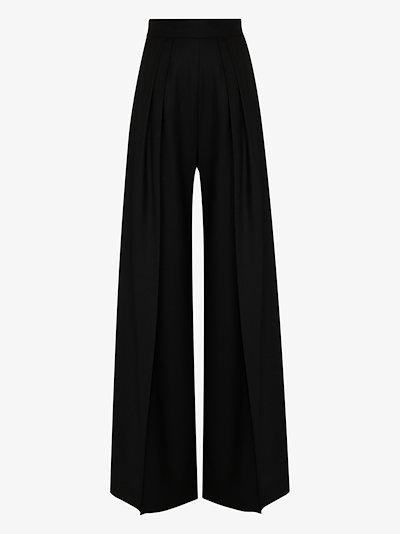 Gretta wool wide leg trousers