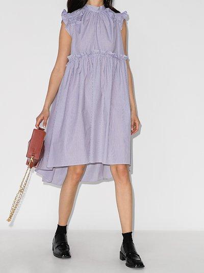 Posey ruffled striped cotton dress