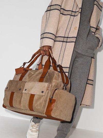 brown Leisure suede holdall bag