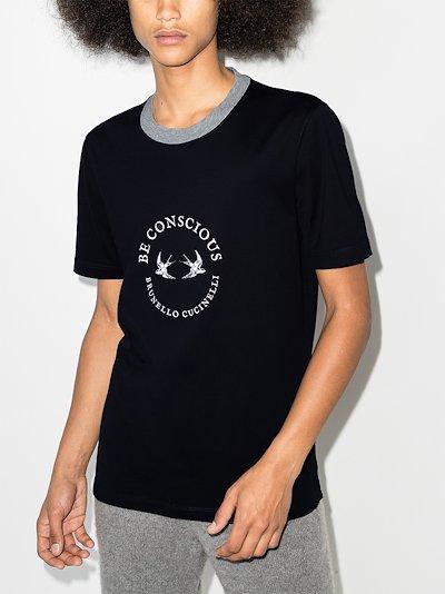 circle logo cotton T-shirt