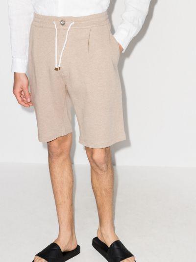 drawstring track shorts