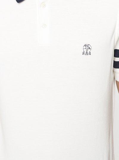 embroidered logo polo shirt