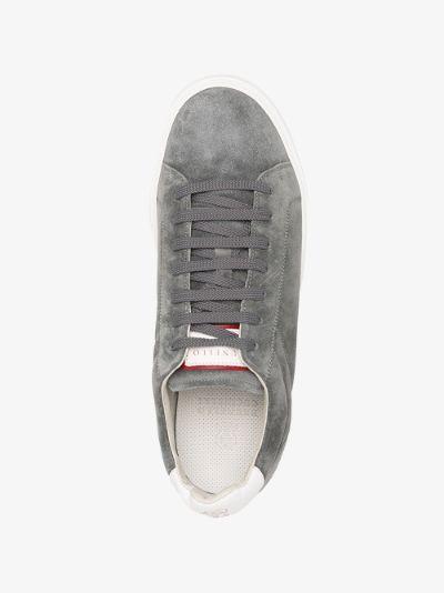 Grey Low Top Suede Sneakers