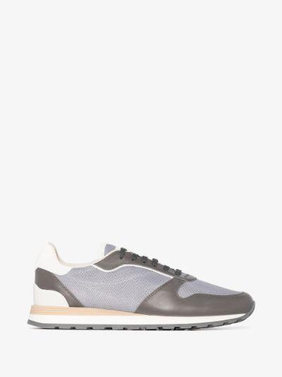 Grey mesh panel sneakers