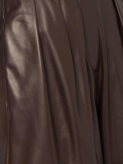 leather high waist shorts