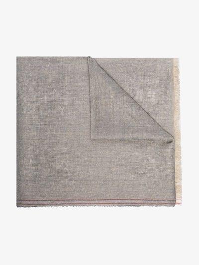 lightweight frayed-edge scarf