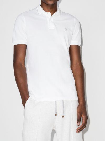 logo cotton piqué polo shirt