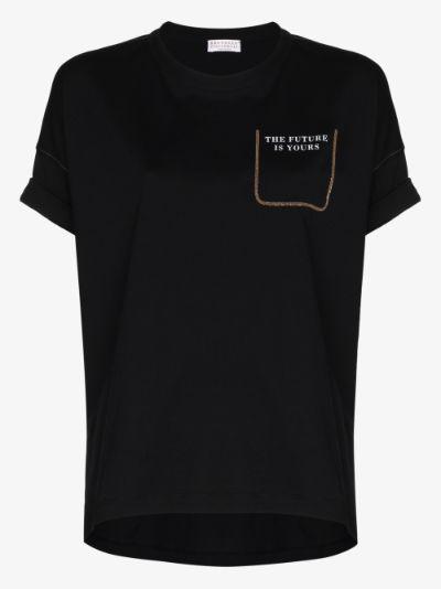 monili embellished T-shirt