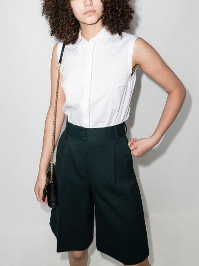 sleeveless button-down shirt