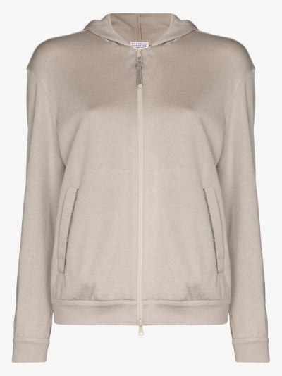Zip-up long sleeve hoodie