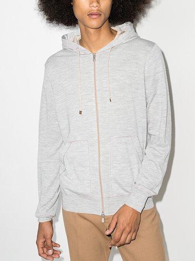 zip-up wool hoodie
