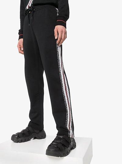 Arnold Monogram stripe cotton sweatpants