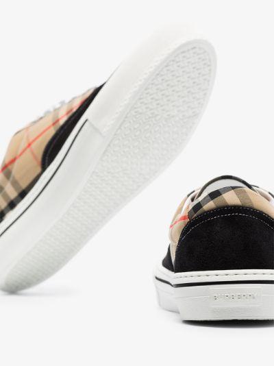 Beige And Black Wilson Vintage Check Sneakers