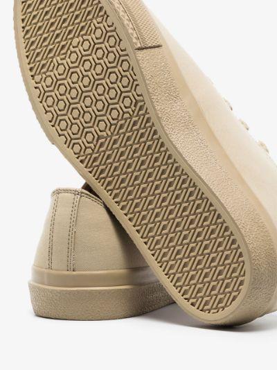 beige Larkhall logo sneakers