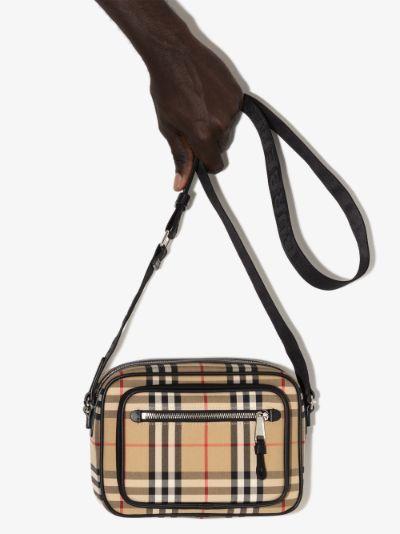 beige Paddy Vintage check messenger bag