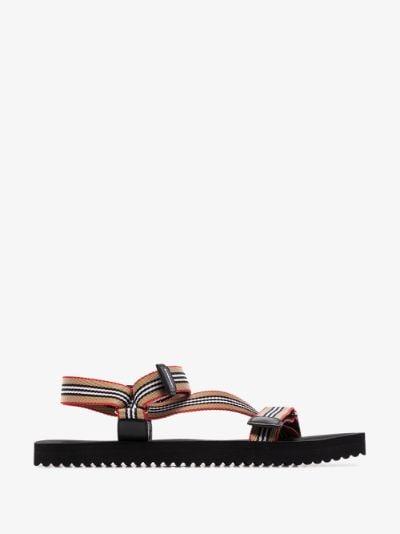 beige Patterson icon stripe sandals