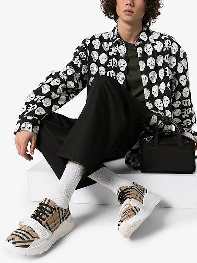beige Regis Vintage Check Sneakers