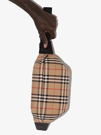Beige Vintage Check cross body bag
