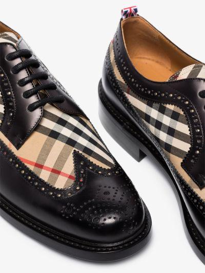 black Arndale Vintage check brogues